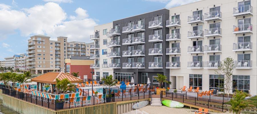 Aloft Ocean City Exterior with pool deck