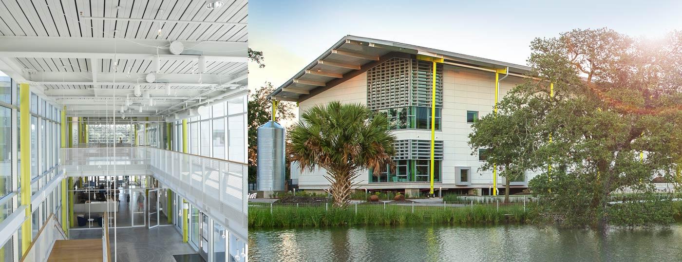 Interior and exterior of Louisiana Children's Museum
