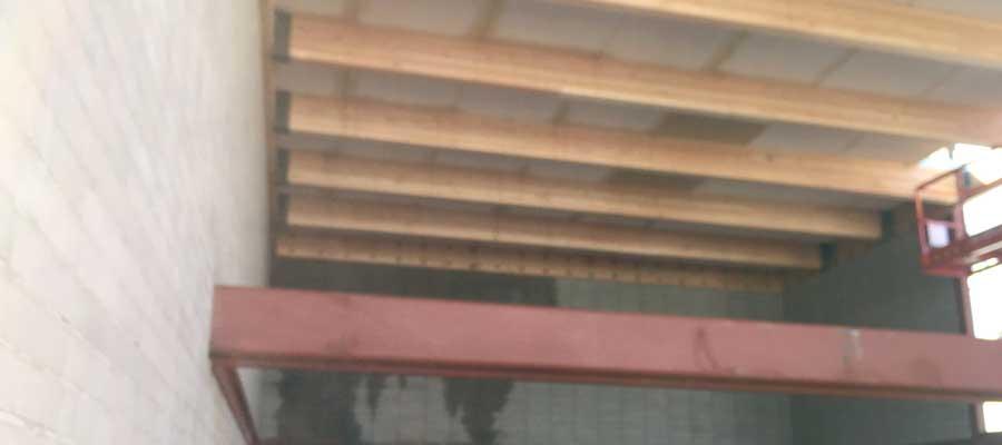 Cementitious wood fiber panels