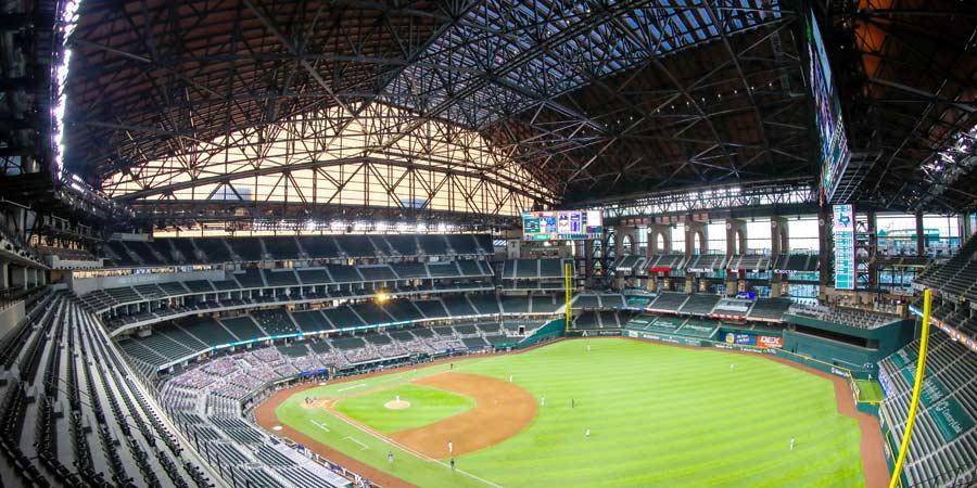 Rangers Stadium Baseball Field Diamond