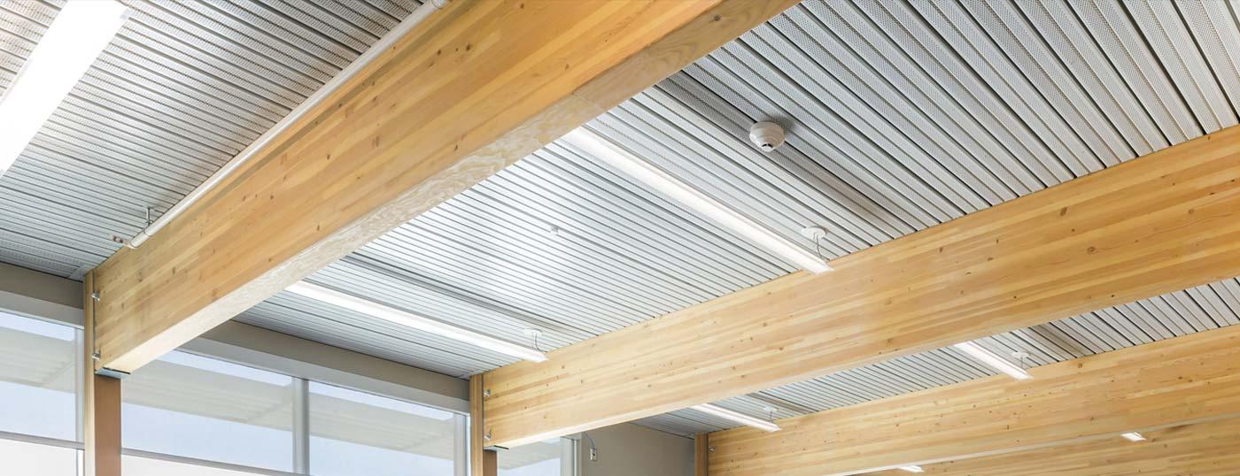 Acoustical long-span composite steel decking