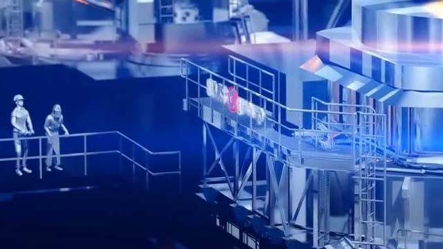 3D animated image of the Sinton TX SDI Steel Mill