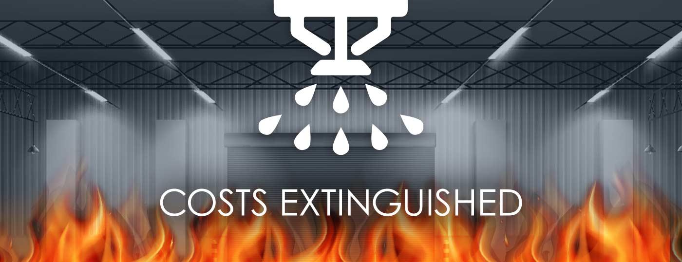 sprinkler system costs extinguished over flames