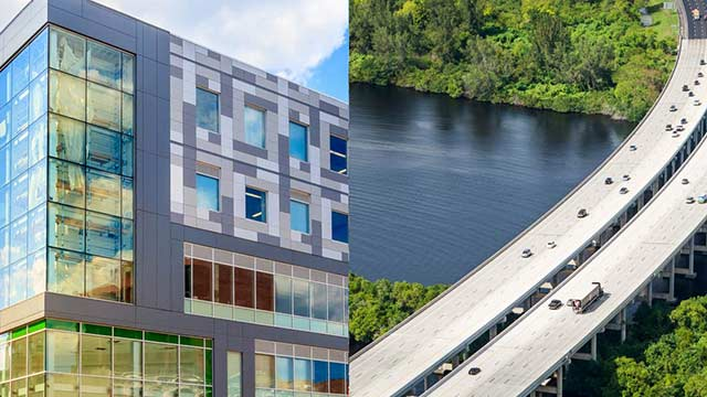 Multi-story building and bridge systems