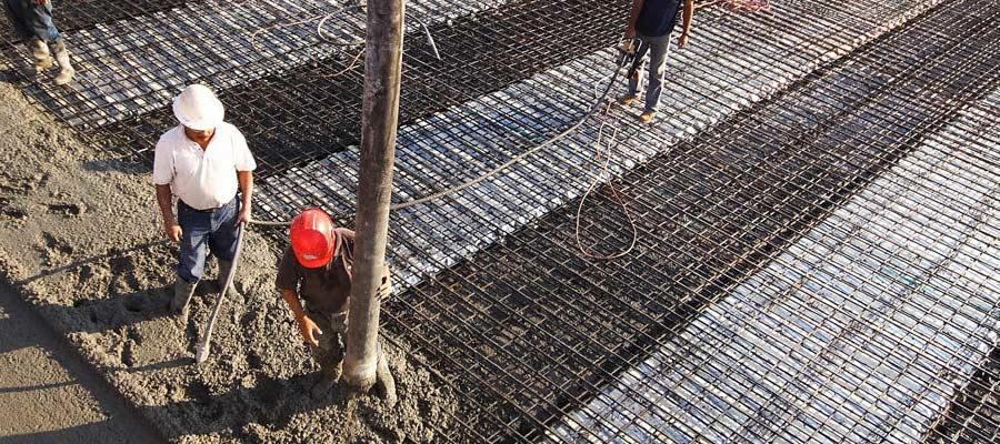 Rhino-Dek concrete pour