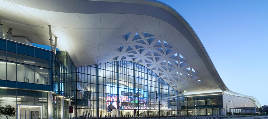 Las Vegas Convention Center West Hall finished exterior