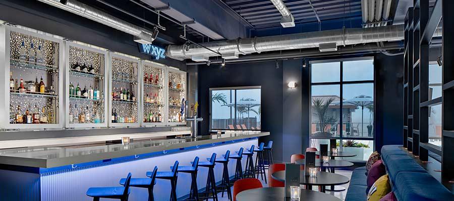 Interior bar of Aloft Hotel New Millennium Composite Deck Versa-Dek®