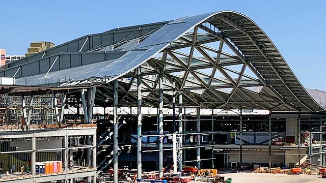 Las Vegas Convention Center exterior with New Millennium steel deck composite deck