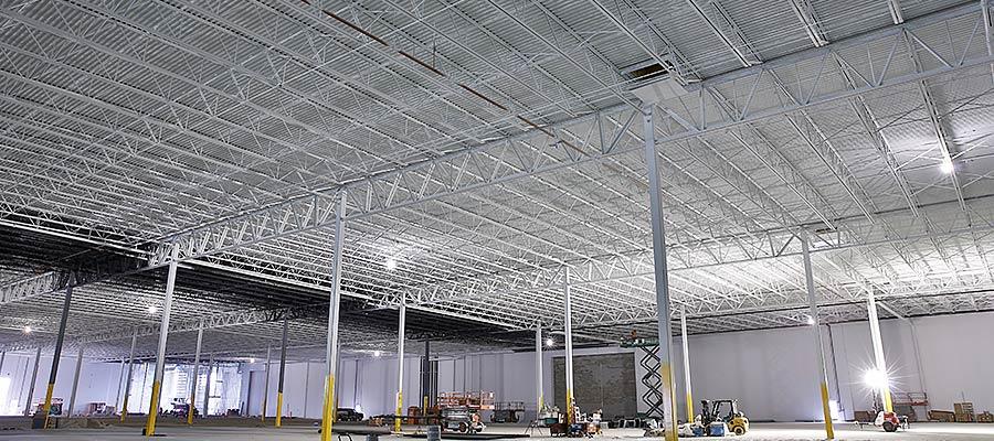 Warehouse New Millennium Roof Deck, Steel Joists and Girders